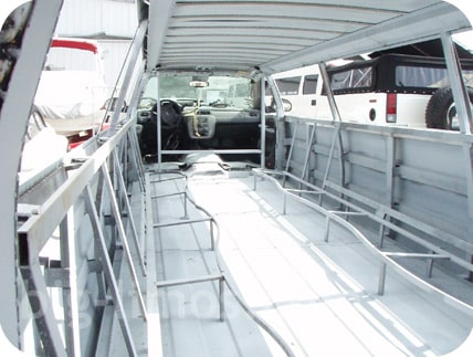 Stretch limo seating framework and chassis