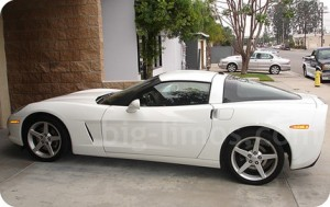 white-corvette-side